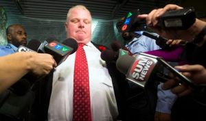 Toronto Mayor Rob Ford responds to the Toronto police investigation in Toronto